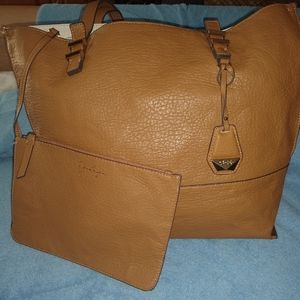 Jesicca Simpson two tone tote with pouch.